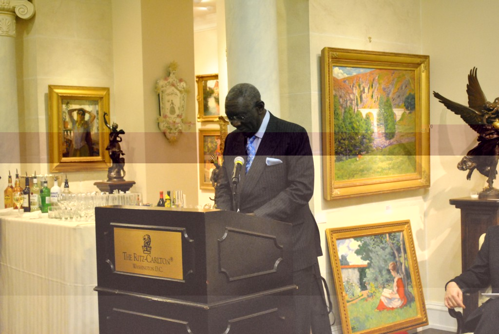 President John Kufuor presents his keynote address